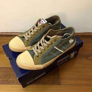 🚚 admiral 綠色帆布鞋