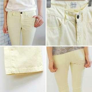 Coup Women Long Pants (designed by korea) - Calm Yellow