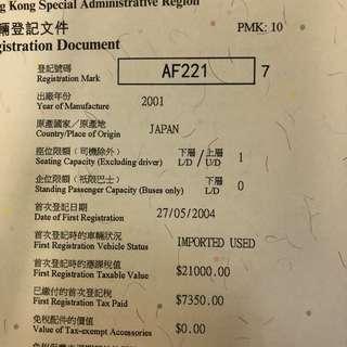 車牌號碼-AF221