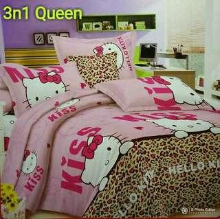 Queen bedsheets 3in1