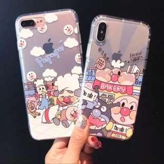 日本卡通可爱面包超人软边全屏钢化膜iphone8 8plus6s 7/7plus前贴膜