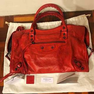 Authentic Balenciaga Classic City Red