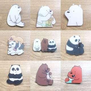 We Bare Bears Acrylic Badge
