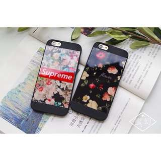 Floral Supreme Case for iPhone 6, 6s, 6plus, 7, 7plus, 8, 8plus