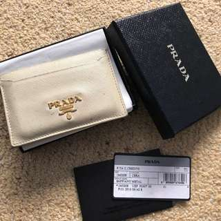 Authentic Prada cardholder with box