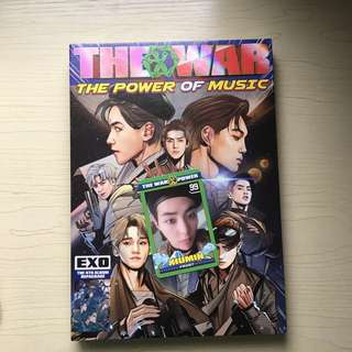 EXO THE POWER OF MUSIC (THE WAR REPACKAGE) ALBUM + POSTER
