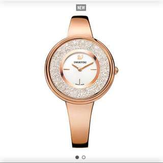 swarovski Crystalline Watch In Rose Gold