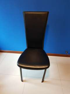 Chair - Black Faux-Leather