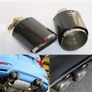 2018 NEW  Car-styling Exhaust Pipe Muffler Tip / Carbon Fiber Exhaust Tip  (30)