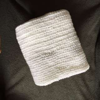 Knitted Baby Blanket White