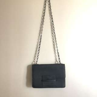 Black Crossbody Bag with Chain