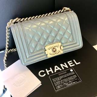 chanel le boy 20cm limited edition (with original receipt)