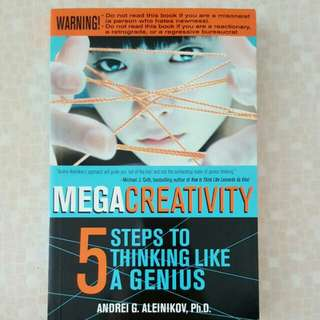 FIXED PRICE📬Brand New Enrichment Book - Mega Creativity 5 Steps To Thinking Like A Genius