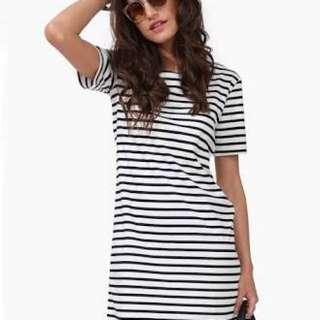 B&W stripe summer dress
