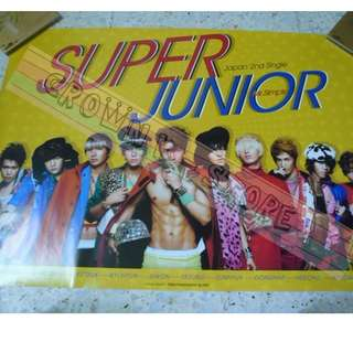 [READY STOCK]SUPER JUNIOR JAPAN OFFICIAL POSTER 1PC SHIP USING TUBE (PRICE NOT INCLUDE POSTAGE)(PLEASE READ DETAILS FOR MORE INFO)