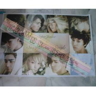 [READY STOCK]SUPER JUNIOR KOREA OFFICIAL POSTER 1PC SHIP USING TUBE (PRICE NOT INCLUDE POSTAGE)(PLEASE READ DETAILS FOR MORE INFO)