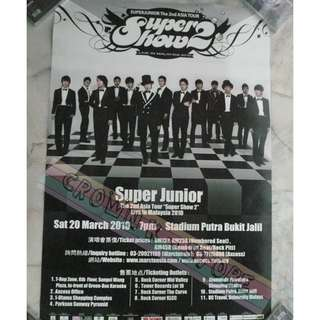 [READY STOCK]SUPER JUNIOR  MALAYSIA CONCERT OFFICIAL POSTER 1PC SHIP USING TUBE (PRICE NOT INCLUDE POSTAGE)(PLEASE READ DETAILS FOR MORE INFO)