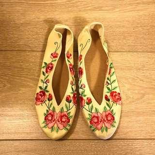 年繡花鞋 刺繡鞋 25cm