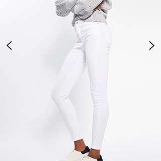 Topshop moto Jamie white jeans