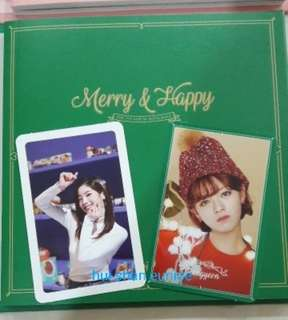 WTS TWICE Merry &  Happy Photocards