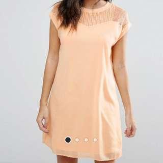 Vero Moda Longline Dress with Lace Yoke