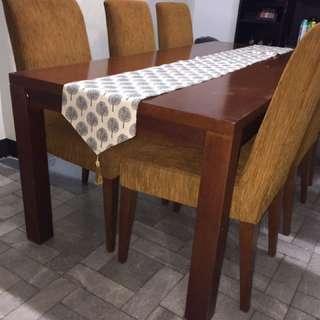 dining table/meja makan bekas /meja kursi makan