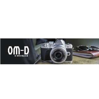 olympus em-10mk3 14-42+40-150mm one warranty free 16+case