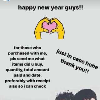 customers pls take note