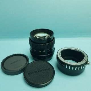 平放! Prakticar 1.4/50 MC 連NEX轉頭 PB mount vintage lens f1.4 (有缺陷平放)