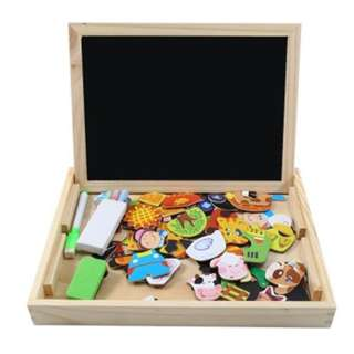 Wooden Magnetic Drawing Board Puzzle (Pre-order)