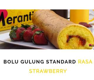 BOLU GULUNG Rasa Strawberry