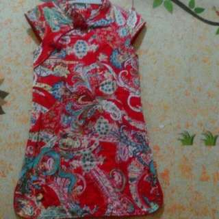 Preloved cheongsam for 4-5yrs