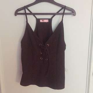Tie Up Singlet Top
