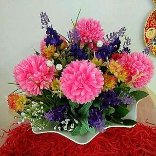 Artificial Flowers Arrangment New Year Home Decor