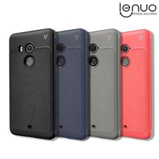 HTC U11+ U11 Plus LEUNO 樂紳 防摔保護套 商務皮紋手機軟套 TPU Case 3899A