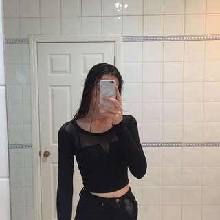 Mesh long sleeve