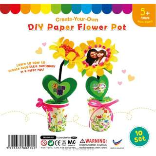 Valentines' Day or Mother's Day DIY PAPER FLOWER POT (DIY-PA7)