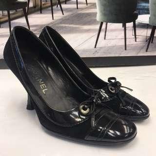 新年優惠貨品Chanel Seude Leather High Heel