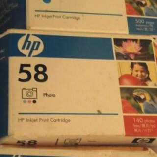 Hp printer 墨 58號一盒
