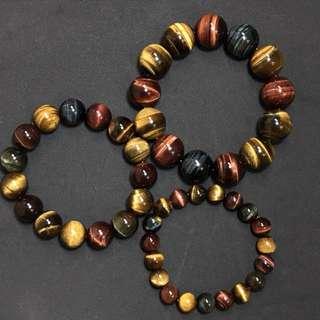·萬佛晶品· 三色虎眼手珠 最高CP值 情侶對珠