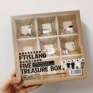 🚚 FTisland Five Treasure box 台灣獨佔限定盤