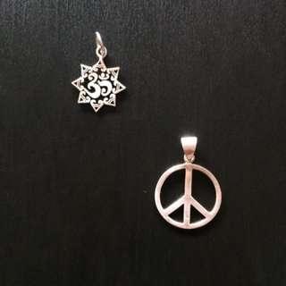 Peace & Ohm pendants