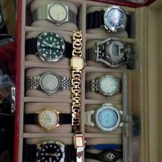One box my watch collection