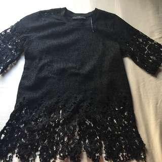 Zara top black