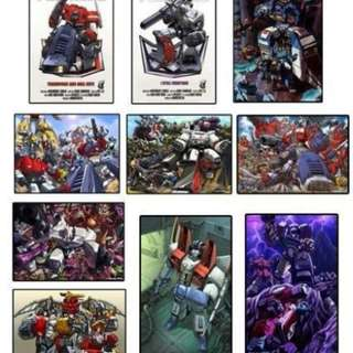 TRANSFORMERS G1 MEGA POSTER BUNDLE - 10 RARE POSTERS & Out of Print by Dreamwave