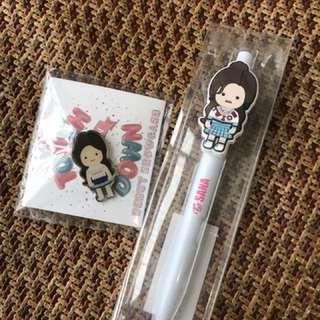 Twice 日本 popup store sana 筆+nayeon 襟章