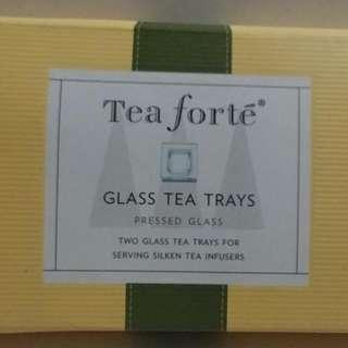 Tea Forte 玻璃茶隔碟