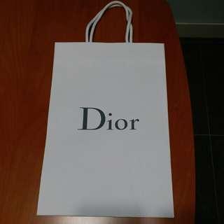Dior paper bag 多個 白色 紅色