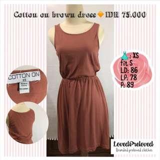 Cotton on brown dress