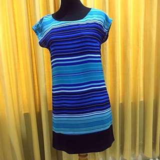 Casual blue-black dress (lenghth: 80 cm)